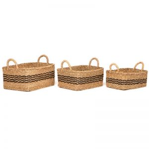 Palash | Set of 3 | Handmade Seagrass Baskets | Fab Habitat