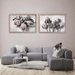Pale Proteas LS | Set of 2 Art prints | Framed or Unframed