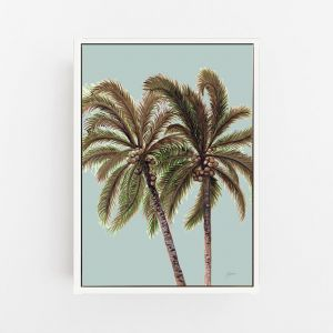 Palm Breeze Duo in Haze Print by Pick a Pear | Canvas Wall Art