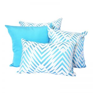 Palm Cove Turquoise | Sunbrella Fade and Water Resistant Outdoor Cushion | Outdoor Interiors