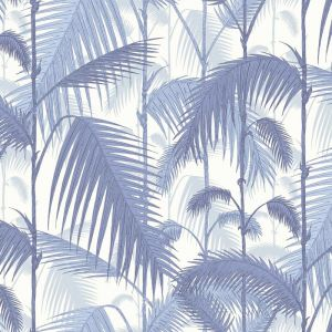 Palm Jungle wallpaper - Blues on White