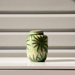 Palm Leaf Ginger Jar