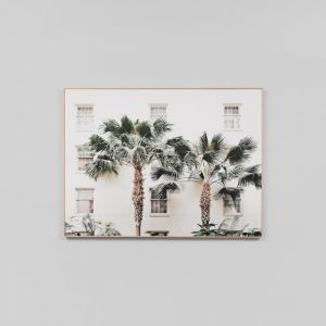 Palm Resort | Framed Photographic Canvas Print | by Matthew Thomas