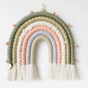 Palm Springs | Fibre Rope Rainbow Wallhanging