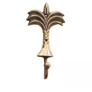 Palm Tree Brass Hook | by Raw Decor