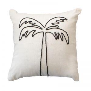Palm Tree Cushion | Black | by Raw Decor