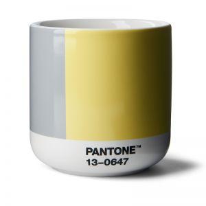 Pantone Cortado Thermo Cup Illuminating 13-0647 & Ultimategray 17-5104 COY21