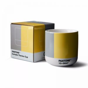 Pantone Cortado Thermo Cup Illuminating 13-0647 & Ultimategray 17-5104 COY21 in Gift Box