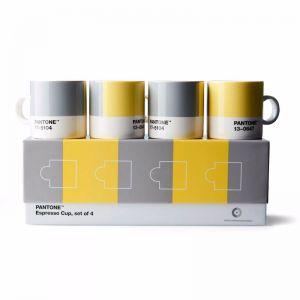 Pantone ESPRESSO CUP Illuminating 13-0647 & Ultimategray 17-5104 COY21 - 4 pcs.