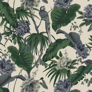 Paradisa Tropical Wallpaper - White