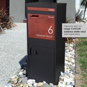 Parcel Dropbox Letterbox | Black - Merbau