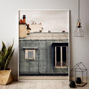 Parisian Rooftop | Posters | Unframed | 4 sizes