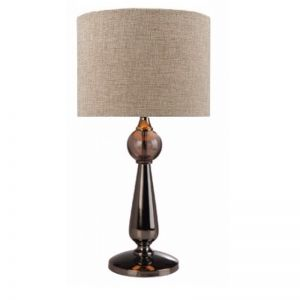Parker Deluxe Table Lamp & Shade   Black Chrome