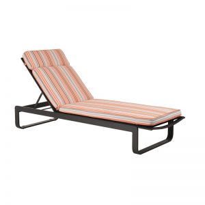 Parker Stripe Sunlounger Cushion | By Remarkable Furniture