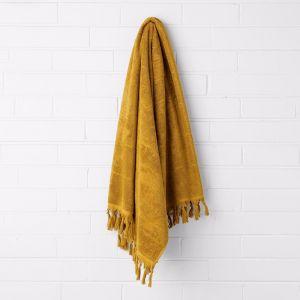 Paros Bath Sheet | Mustard | by Aura Home