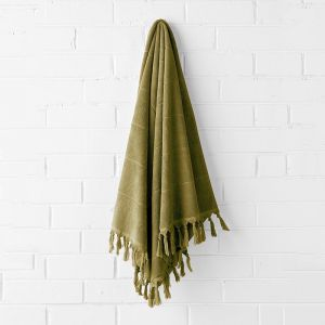 Paros Bath Sheet | Olive by Aura Home