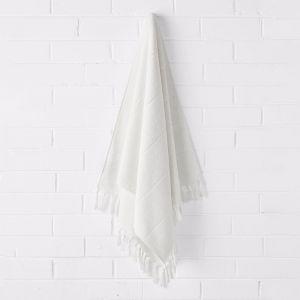 Paros Bath Sheet | White Wash | by Aura Home
