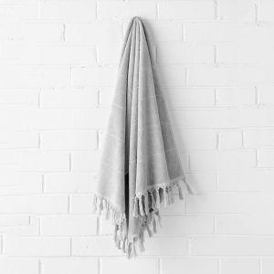 Paros Bath Towel | Dove by Aura Home