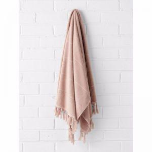 Paros Bath Towel | Pink Clay | by Aura Home