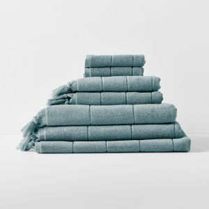 Paros Bath Towel Set | Eucalypt by Aura Home