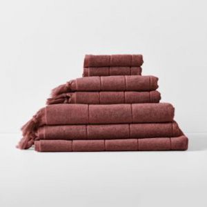 Paros Bath Towel Set | Mahogany by Aura Home