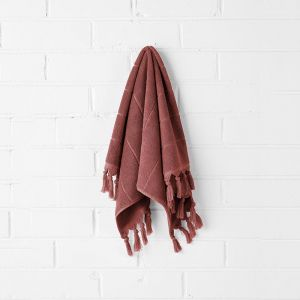 Paros Hand Towel | Mahogany by Aura Home