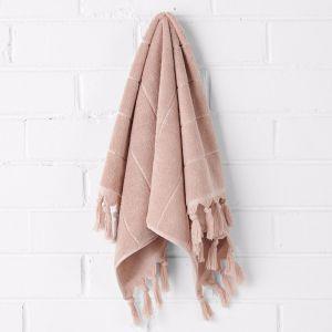 Paros Hand Towel   Pink Clay   Aura Home