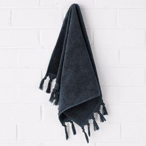 Paros Hand Towel   Slate   Aura Home