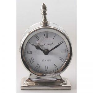 Paros Round Silver Clock | by Hampton Lane