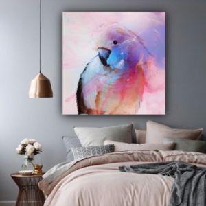 Parrot in Blue | Canvas Print | Antuanelle