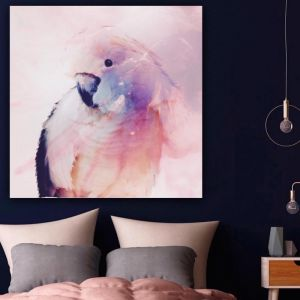 Parrot in Blush Pink | Canvas Print | Antuanelle