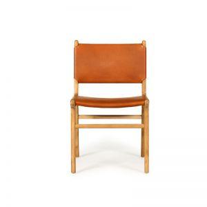 Pasadena Leather Side Chair | Tan