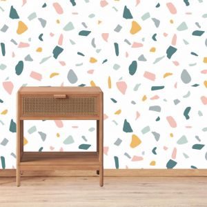 Pastel Terazzo Removable Wallpaper