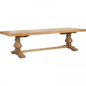 Paxton Pompadour 300cm Reclaimed Elm Dining Table | Natural | Schots