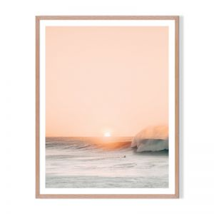 Peach Sunset | Framed Print by Artefocus