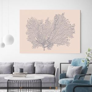 Peaches Coral | Canvas Wall Art by Beach Lane