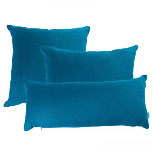 Peacock Blue | Sunbrella Fade and Water Resistant Outdoor Cushion | Outdoor Interiors