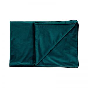 Peacock Teal | Velvet Throw