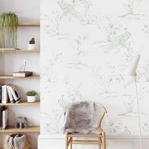 Peacocks | Sage Green | Wallpaper