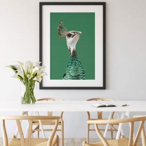 Peahen | Green Peahen Canvas Art Print