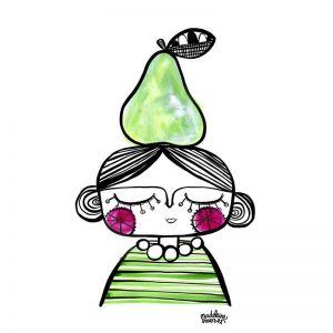 Pear Head Print - A4