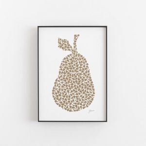 Pear Orchard in Bronzed Copper Wall Art Print by Pick a Pear | Unframed