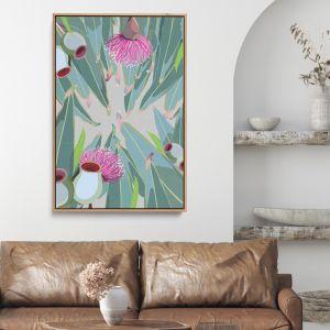 Peek Eucalyptus | Green and Grey Nature Gum | Canvas or Art Print