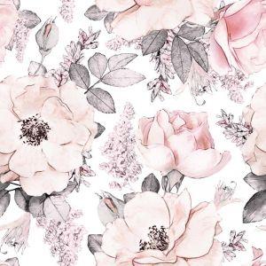 Peony Garden White Wallpaper