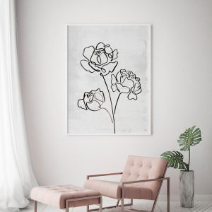 Peony Romance | Floral Art Print | Framed or Unframed