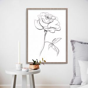 Peony Sketch Unframed Print | Various Sizes