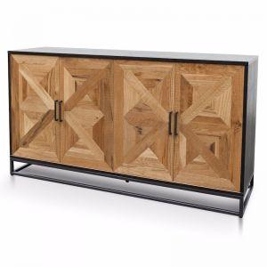 Percy Wide Sideboard | European Knotty Oak and Peppercorn | 160cm