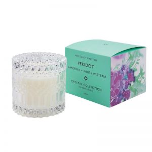 Peridot Candle by Mrs Darcy | Gardenia and White Wisteria