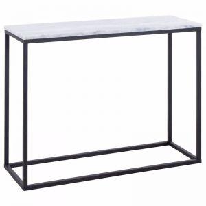 Perin 100cm Marble Console Table | White | Schots | Pre Order