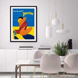 Perrier Fou De Soif by Bernard Villemot  | Unframed Art Print